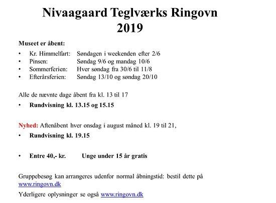Niva, Denmark: Vores åbningstider kan ikke indarbejdes i TripAdvisers skabeloner.