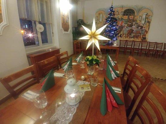 Restaurace Švejk Příbram: Vánoční výzdoba