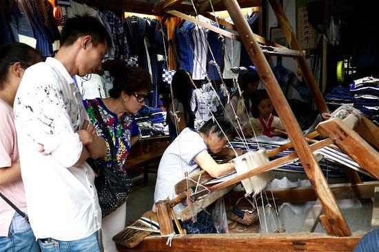 Textile making on Zhenfeng Wenhua Street