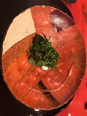 Sea-bass with herbs.