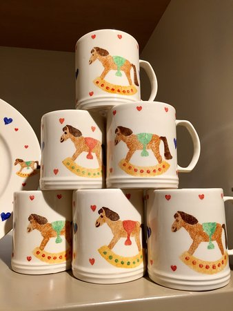 Our gift shop is bursting with hand made and hand painted ceramics, all made onsite here at Aston Pottery.