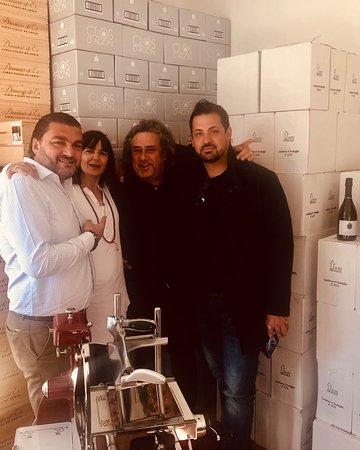 Staff vom Weingut Clos d'Agon zu Besuch!