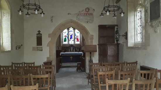 Gloucestershire, UK: A medieval Anglican church.