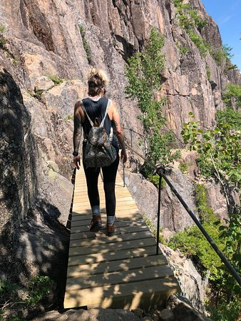Precipice Trail: this is a nice bridge..but pretty much the only one
