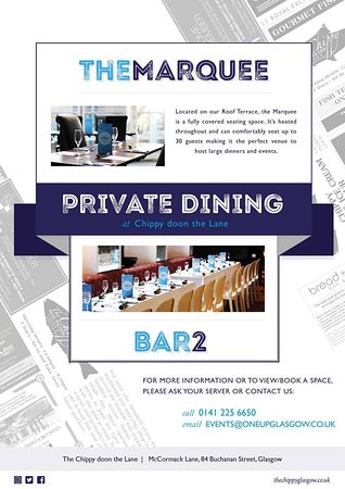 2 Private dining areas are available, seating between 10 and 30 guests; perfect for all of your needs!