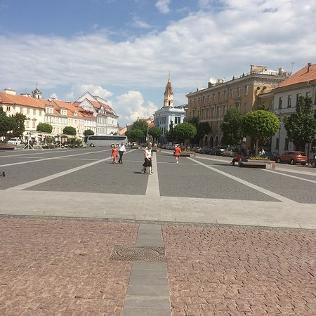 Looking Down The Square From The Town Hall