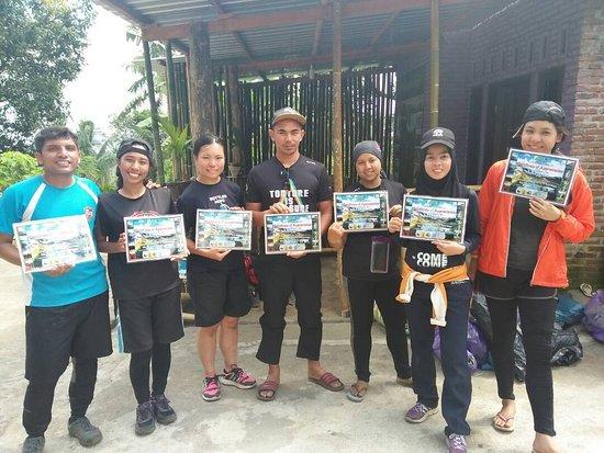 Trekking Certificate of appreciation from Rinjani Wonders