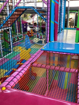 soft play and inflatable slides and bouncy castle