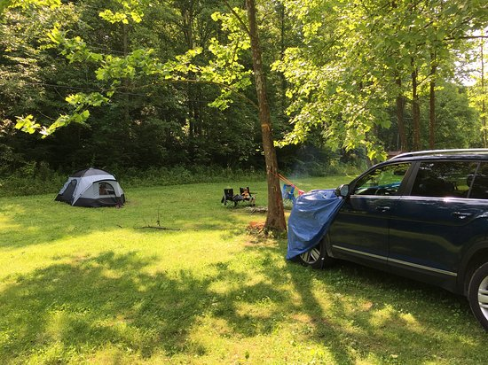 Frenchburg, KY: Our campsite (taken from road).