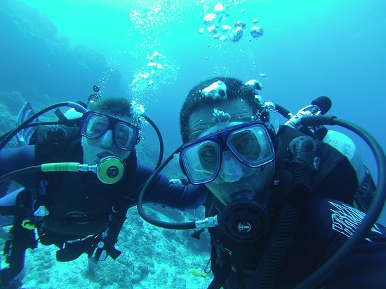 GustDive: Gustavo and myself in Cozumel April 2019.  