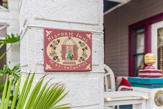 The Old Powder House Inn: Historic Inns of St. Augustine sign