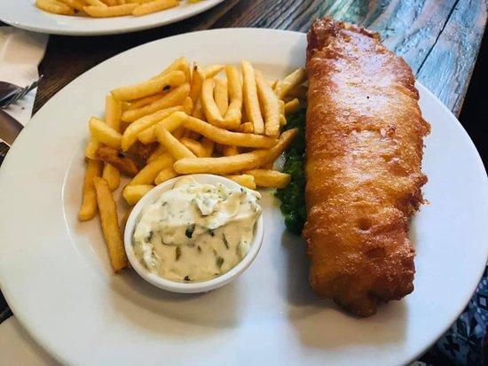 The Plough Inn: Haddock n chips