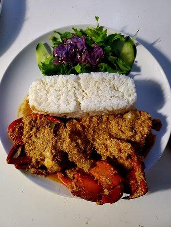 Crabe sauce + riz