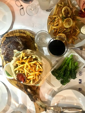 208 Rodeo Restaurant: Tomahawk Steak & Fish and Chips