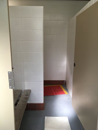 Shower stall and dressing area
