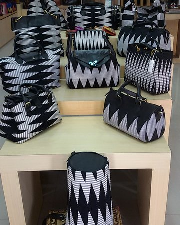 Black and White Handwoven Bag Collection