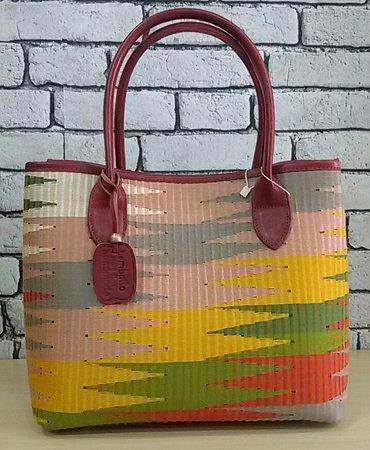 Traditional Woven Handbag, modify with original leather - Handmade