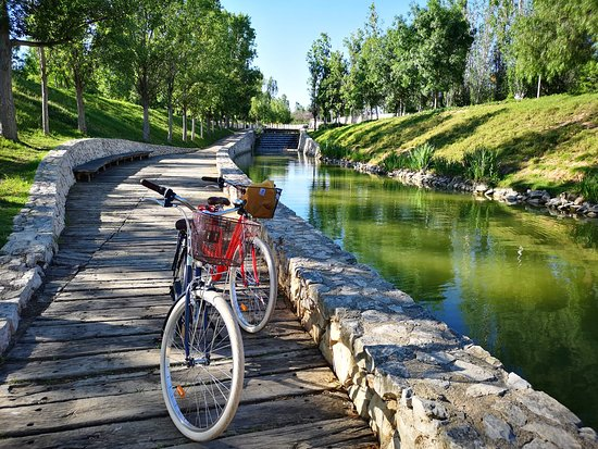 Sunny day in Cabacera Park with comfortable bikes from Happy Tourist Center :)