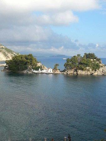 Parga, Griechenland: Avra Restaurant view
