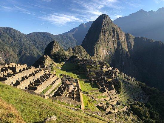 Machu Picchu, Peru: Vue sur le site à 7h15