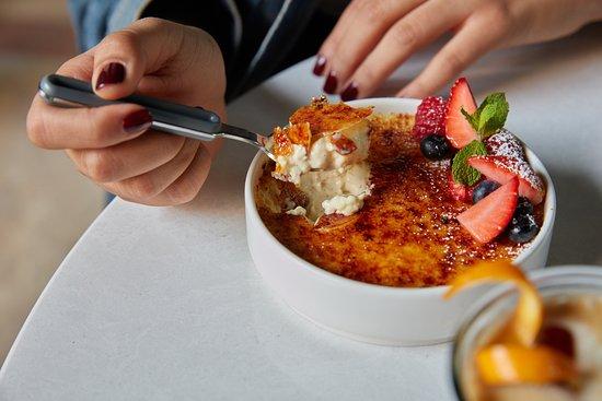 Cassette: Classic Crème Brûlée (GF) Our gluten free crème brûlée comes with fresh berries