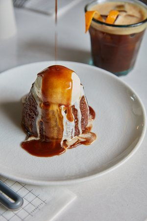 Cassette: Sticky Toffee Pudding Dates, toffee sponge, toffee sauce, vanilla ice cream, maple syrup
