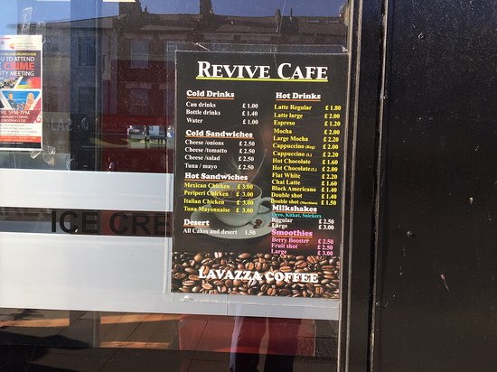 Pointlessly, there's a list of items on the window menu. No one was eating, and no one wanted to serve