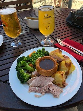Pork Sunday roasted