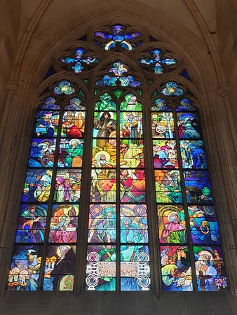 Beautiful stained glass - purchase Circuit B ticket at a cost of 250czk to visit