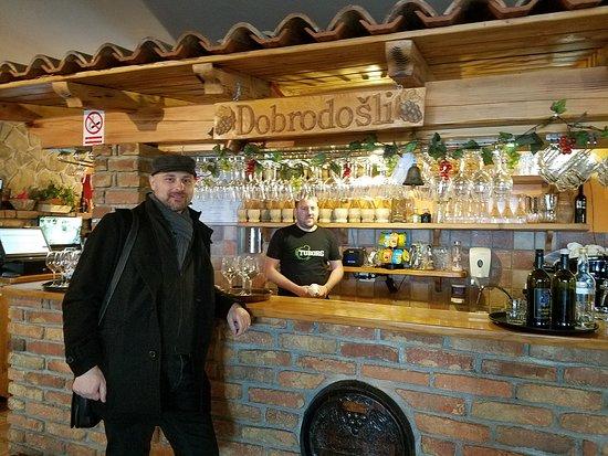 Custom Premium / Executive Class Tour from Koper: Peter took us to his favorite restaurant.