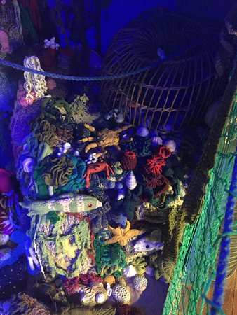 Everything you see if knitted - amazing! Well worth a visit to the maritime museum - lots of interactive displays, good for young and old