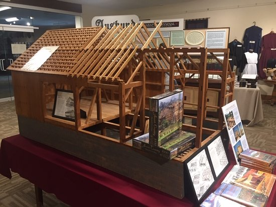 Replica of barn raising