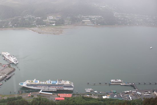 Juneau Harbor from Mount Roberts Tramway Station