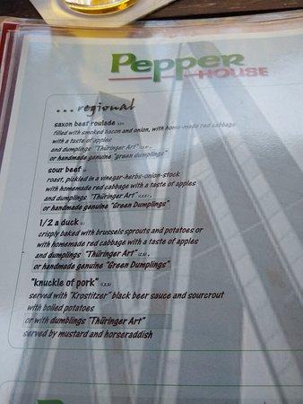 Analog menu