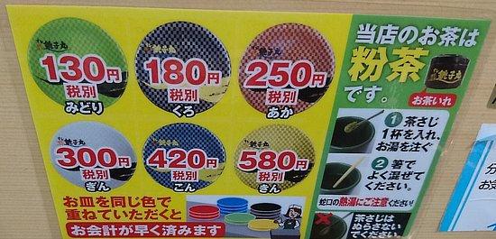 値段表です。