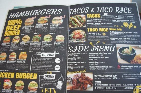 Jetta Burger Market: メニュー