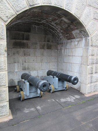 Halifax Citadel National Historic Site of Canada: Halifax Citadel-Canons displayed in Magazine