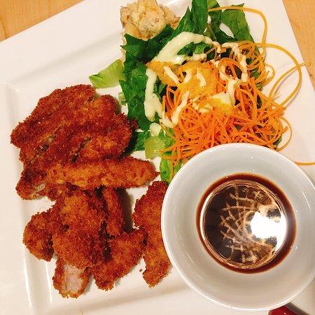 Deep-Fried Pork Cotelette Deep-fried pork with Japanese BBQ sauce