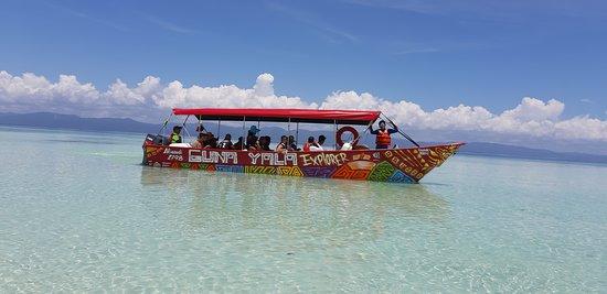 Остров Сан-Блас, Панама: Nuestra hermosa Lancha navegando las islas