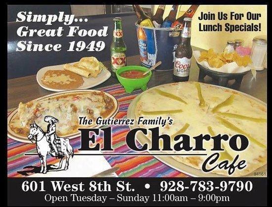 El Charro Cafe Yuma Menu Prices Amp Restaurant Reviews
