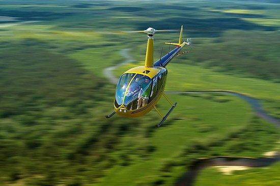 Passeio de helicóptero na Residência...