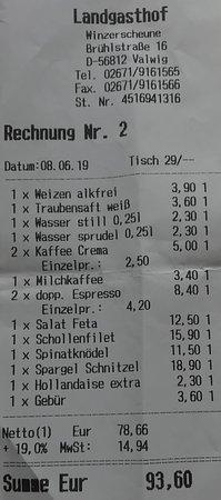 Valwig, Germany: Nach unserer Meinung hätte das Preis/Leistungsverhältnis mit der Kostenstruktur eines Ortes mit 447 Einwohnern noch die Übernahme der Kreditkartengebü(h)ren vertragen ;-)
