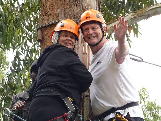 Supreme Adventure Park Bunyonyi: Trying the zipline