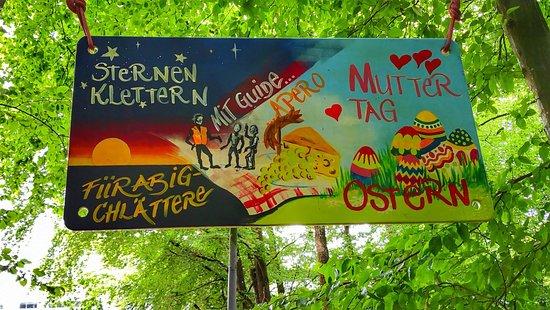 Seilpark Zürich: Sign ➡