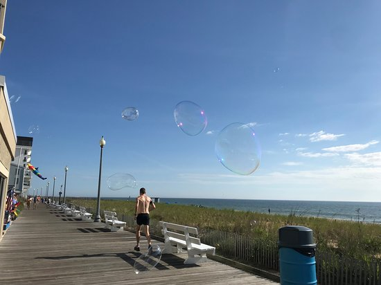 Bubbles over the Rehoboth Beach Boardwalk