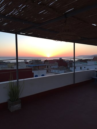 Sunset view from our roof top terrace