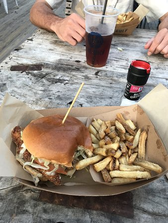 Red Snapper Sandwich and Fries