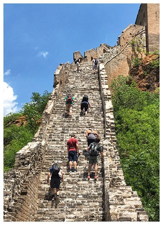 Excursão privada à Cidade Proibida na Praça Tiananmen e à Grande Muralha: Hiking the Great Wall at Jinshanling. It's challenging, but doable. (We're not the most athletic people.) The views are worth every burn and drop of sweat, I promise!