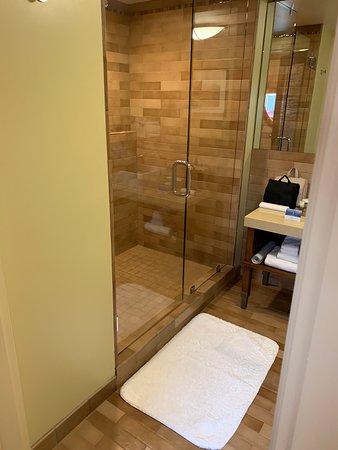 Spacious shower