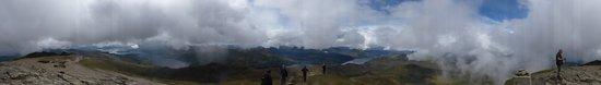 Rowardennan, UK: Panorámica de la cima